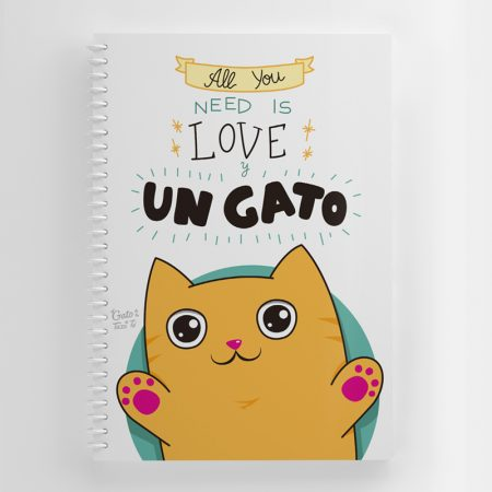 libreta all you need is love portada